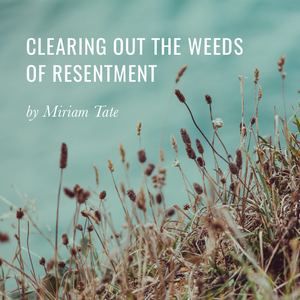 Clearing out the Weeds of Resentments